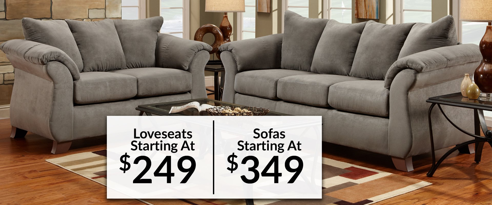 Lowry's sofa and loveseat set