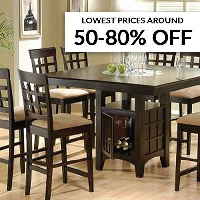 50-80 percent off kitchen table sets